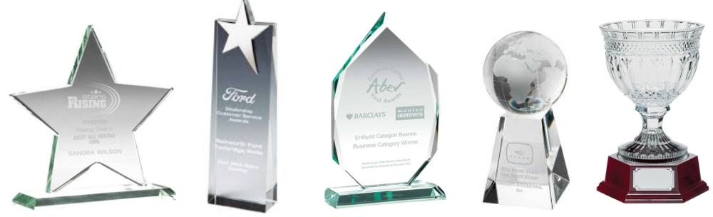 Glass Trophies and Awards with Your Logo